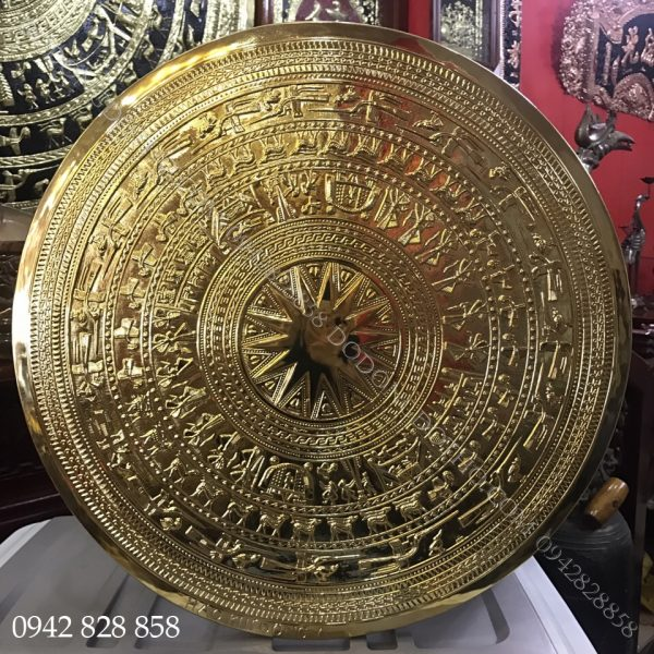 MẶT TRỐNG ĐÚC THỦ CÔNG MẠ VÀNG 60CM